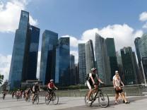 Radfahren in Singapur: Auf Kollisionskurs mit Fußgängern und Kleinrollern