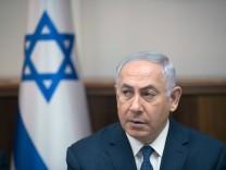 Benjamin Netanjahu bei einer Kabinettssitzung