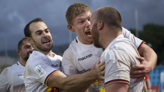 Deutschland Hongkong WM Qualifikationsspiel Qualifikationsspiel zum Rugby World Cup 2019 in Japan; Rugby Sean Armstrong DRV
