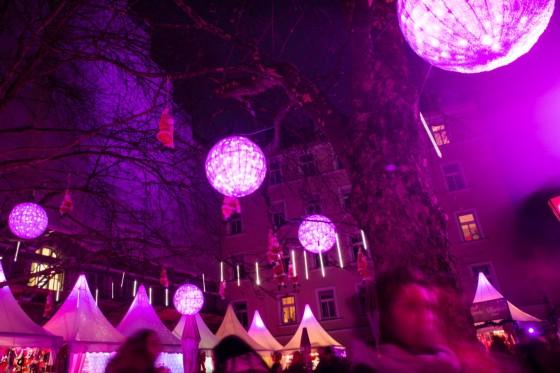 Pinker Weihnachtsmarkt.Christkindlmarkte In Munchen Nachtkindlmarkt In Der