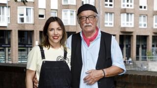Hana Geißendörfer mit Vater Hans W Geißendörfer beim Publikums Event Lindenstraße Kult in Serie i