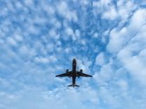 Landeanflug auf den Flughafen