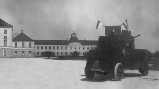 Panzer vor Schloss Nymphenburg
