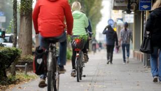 Radfahrer in München, 2018