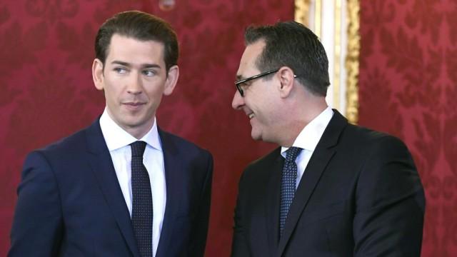 Österreich - Bundeskanzler Sebastian Kurz (ÖVP) und Heinz-Christian Strache (FPÖ)