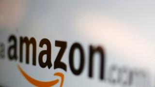 Amazon-Logo auf einem Bildschirm