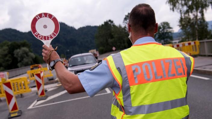 Grenzkontrolle Deutschland - Österreich
