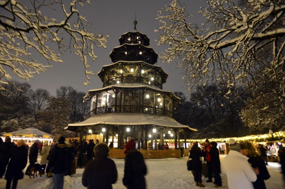 Weihnachtsmarkt Am Chinesischen Turm.Christkindlmärkte In München Christkindlmarkt Am Chinesischen Turm