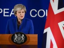 Großbritanniens Premierministerin Theresa May nach dem EU-Sondergipfel