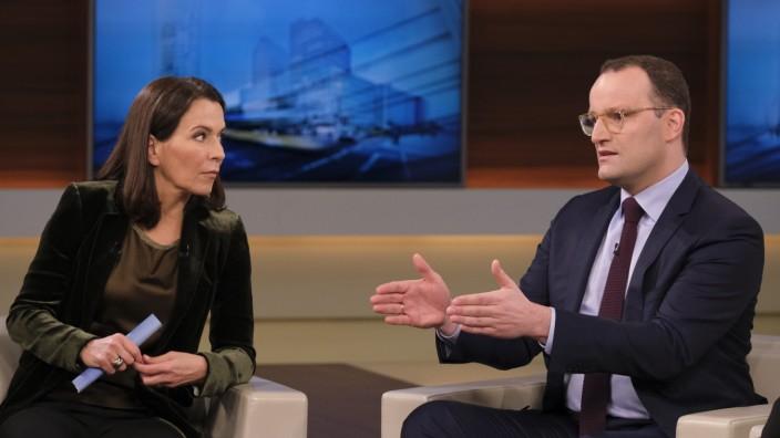 Anne Will diskutiert mit CDU-Politiker Jens Spahn