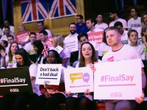 Pro-remain Groups Hold Joint Rally Rejecting The Prime Minister's Brexit Deal