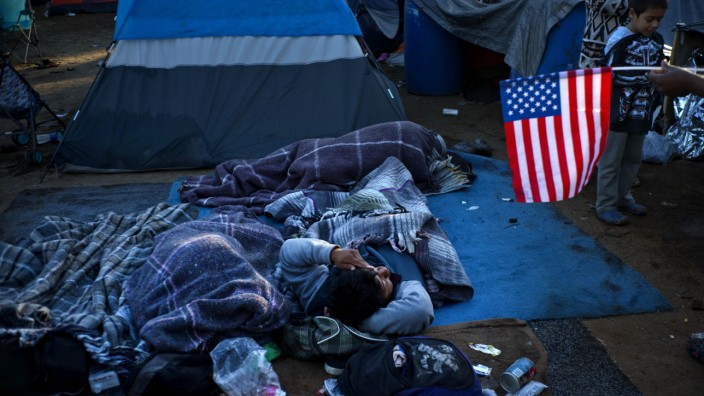 Migranten an der Grenze zu den USA