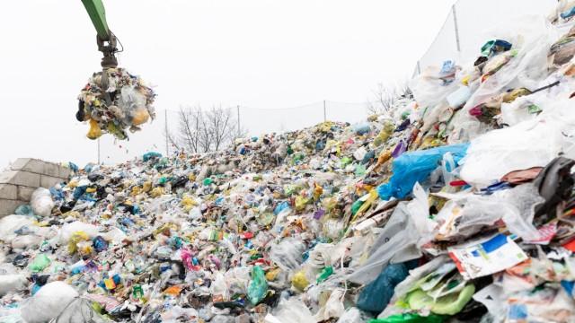 Plastikmüll Recycling Umschlagplatz für Kunststoffe