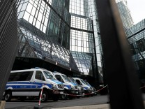 Criminal police officers, prosecutors and tax inspectors searched Deutsche Bank offices in and around Frankfurt