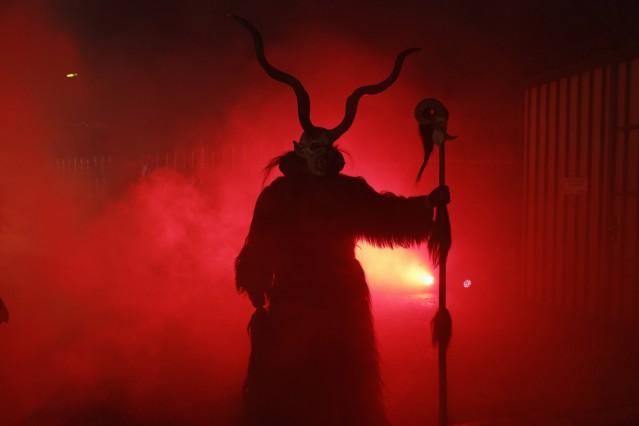 Austria Salzburg Perchten Maxglaner Teufeln PUBLICATIONxINxGERxSUIxAUTxHUNxONLY SIE003342