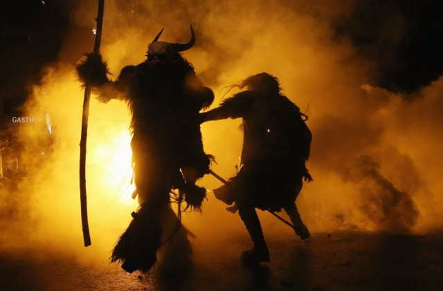 Krampus Creatures Parade Through Tyrol As Christmas Approaches