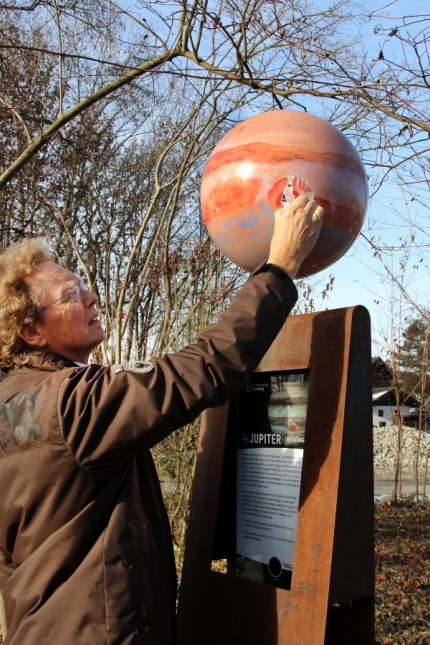 Starnbergs Planetenweg wurde beschädigt; Planetenweg Starnberg
