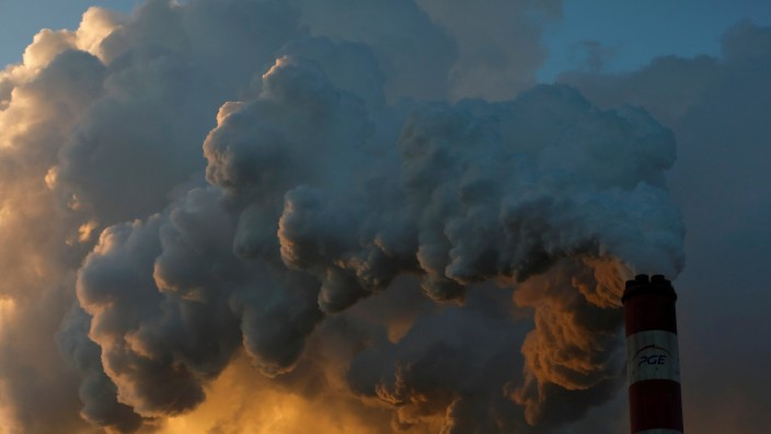 Smoke and steam billows from Belchatow Power Station, Europe's largest coal-fired power plant operated by PGE Group, near Belchatow