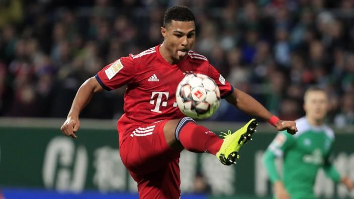 GNABRY Serge Team FC Bayern Muenchen DFL Bundesliga Saison 2018 2019 Spiel Werder Bremen FC Bayern