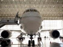 Mexican Air Force Presidential Boeing 787-8 Dreamliner is pictured at a hangar before is put up for sale by Mexico's new President, at Benito Juarez International Airport in Mexico City