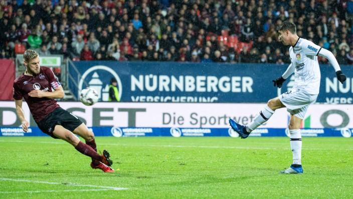 03 12 2018 xkvx Fussball 1 Bundesliga 1 FC Nuernberg Bayer 04 Leverkusen emspor v l Goal scor