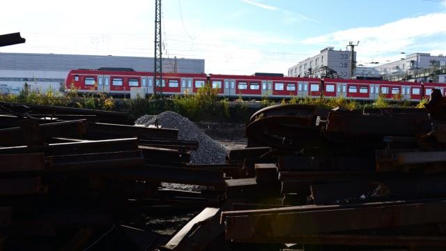 Baustelle für zweite S-Bahn-Stammstrecke in München, 2018