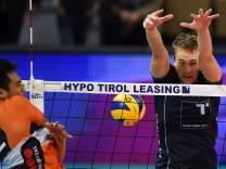 VOLLEYBALL VBL Tirol vs Berlin INNSBRUCK AUSTRIA 02 DEC 18 VOLLEYBALL VBL Volleyball Bundesl; Volleyball