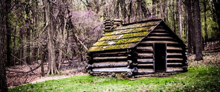 Abgelegene Hütte in den Smoky Mountains in Tennessee