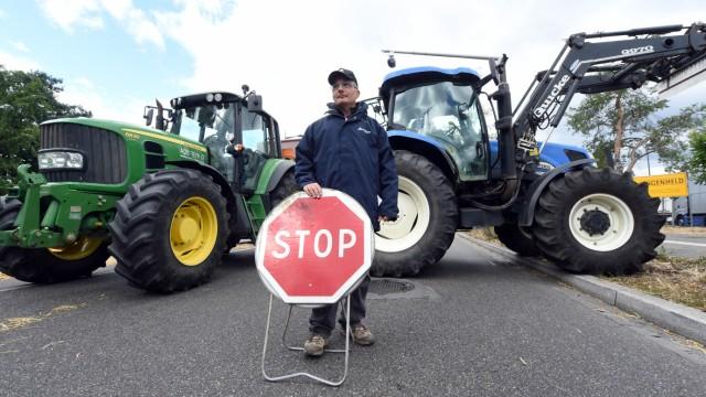 Französische Bauern blockieren 2015 Grenzen zu Deutschland