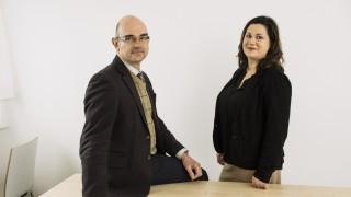 Haar, Prof. Ulrich Zimmermann, neuer Chefarzt Klinik für Suchtmedizin und Psychotherapie, Lena Heyelmann, Pflegedienstleiterin,