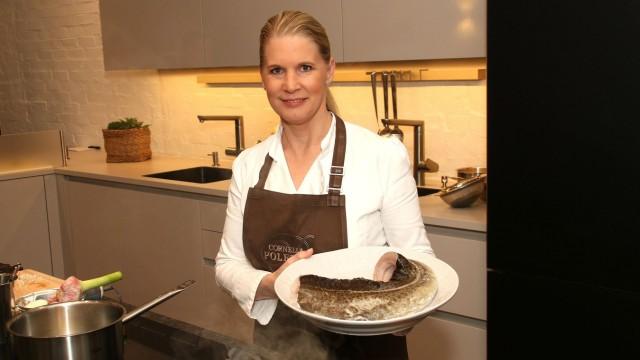Cornelia Poletto beim Presseternin für die neue ZDF Kochshow Kerners Köche ab 1 04 2017 um 16 15 Uh