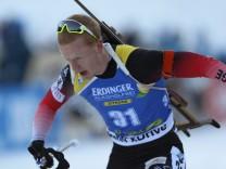 Johannes Thingnes Bö beim Weltcup-Sprint in Pokljuka