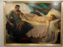 Akt mit Geiger, 145 x 192 cm