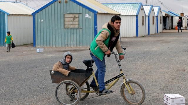 Syrische Flüchtlingskinder in einem Camp in Jordanien