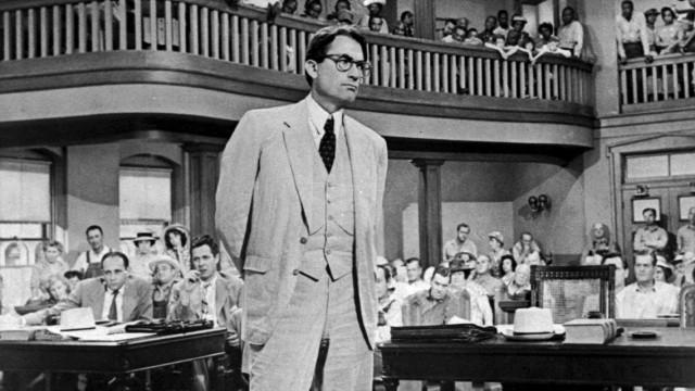 """Gregory Peck in """"Wer die Nachtigall stört"""", 1962"""
