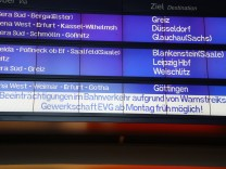 Bahn Streik Montag