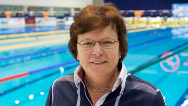 Schwimmen Berlin 15 06 2017 Deutsche Meisterschaften Finale Gabi Dörries DSV Präsidentin Doeries