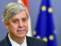 Euro zone finance ministers meet to discuss reforms of the monetary union in Brussels