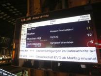 Bahn Warnstreik Montag