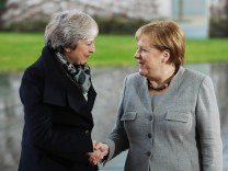 Theresa May Meets With Angela Merkel As Brexit Approval Stalls