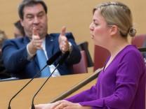 Erste Regierungserklärung nach bayerischer Landtagswahl