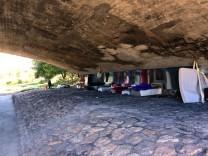 Illegales Obdachlosencamp in München, 2018
