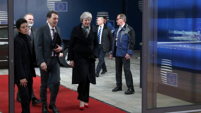 Tusk and May discuss Brexit in Brussels