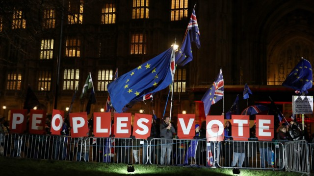 Politik Großbritannien Brexit-Debatte