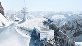 Eine Simulation der geplanten neuen Bergstation am Titlis in der Schweiz