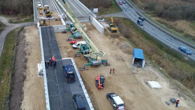 Behelfsbrücke für Autobahn A20 wird freigegeben