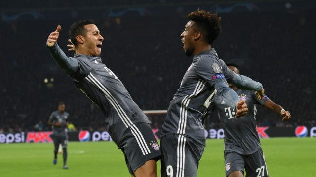 Champions League Thiago und Coman