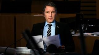 Thüringer AfD-Chef und Fraktionsvorsitzende Björn Höcke im Landtag