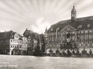 Ansichtskarte Markt & Rathaus & Hakenkreuz