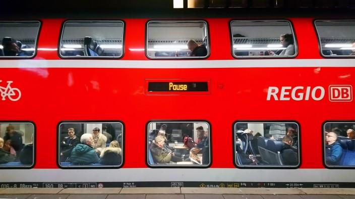 Warnstreik bei der Deutschen Bahn